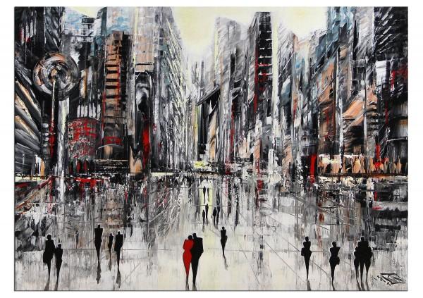 "Modernes Gemälde, K. Namazi: ""Shanghai.Boulevard I"" (E)"