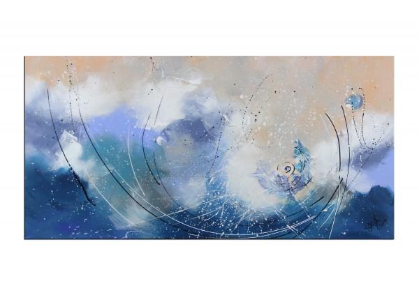 """Gemälde abstrakt, Maya: """"Ein Wintermorgen"""""""