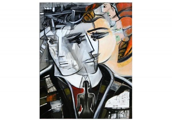 "Moderne Malerei, K. Namazi: ""Two Face II"" (E)"