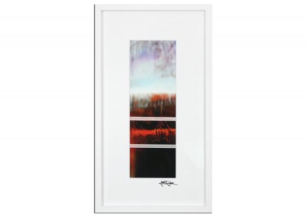 """Abstrakte Edition, signierter Kunstdruck, Julio Fernandez: """"Über den Dächern IV"""""""