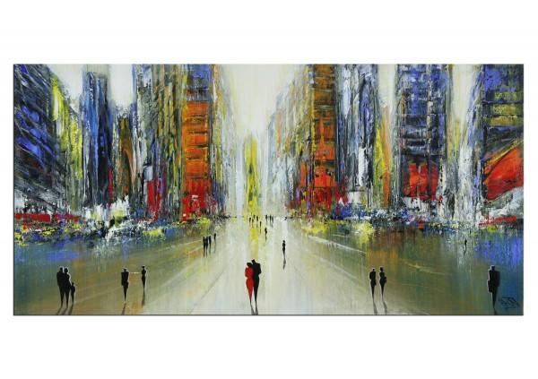 """Modernes Gemälde, K. Namazi: """"Urban Skyscraper I"""" (ri, A)"""
